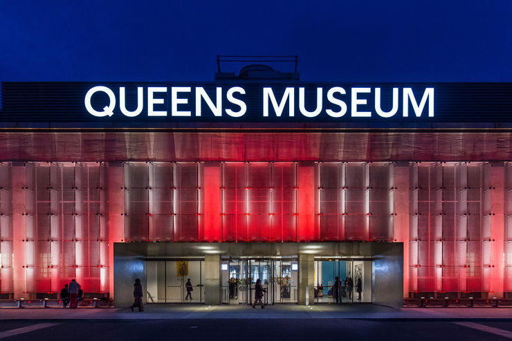 Entrance to the Queens Museum at Night