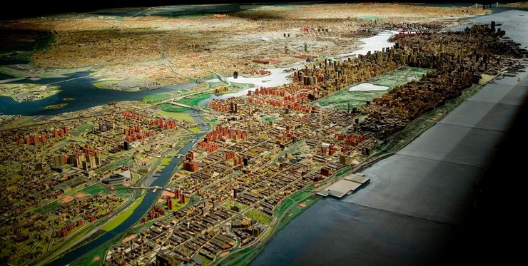 Panorama of New York City at the Queens Museum of Art