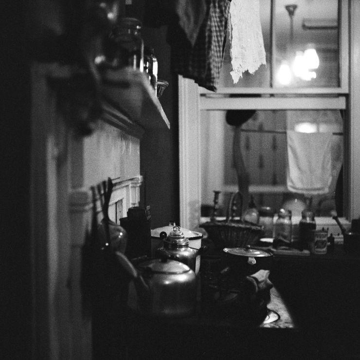 Cooking utensils inside the Tenement Museum
