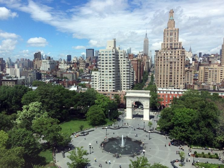 Overlooking Washington Square Park in Greenwich Village