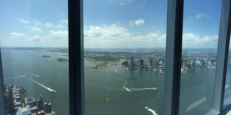 View from the One World Observatory in NYC