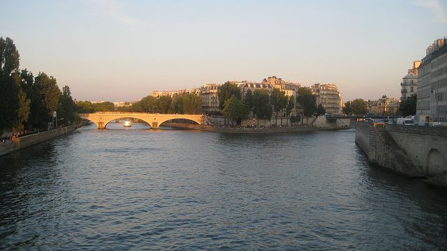 View of the River Seine from the Batobus
