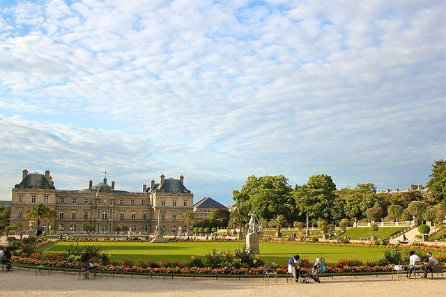 Palais du Luxembourg overlooking the Luxembourg Garden in Paris