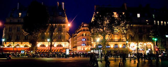 Spectacular lighting brings the Latin Quarter to life at night