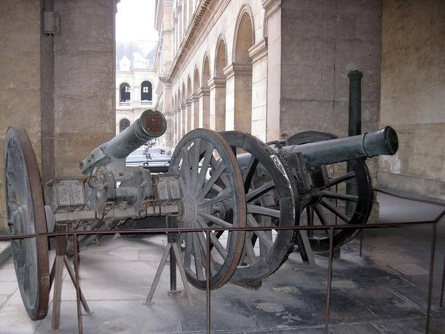 Old cannons on display at Les Invalides