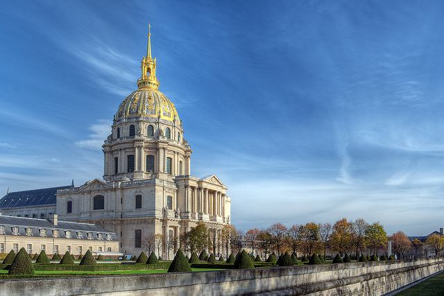View of the spectacular Palace Les Invalides
