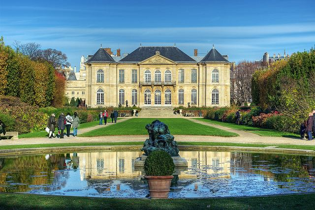 Beautiful garden welcomes visitors to Rodin Museum in Paris