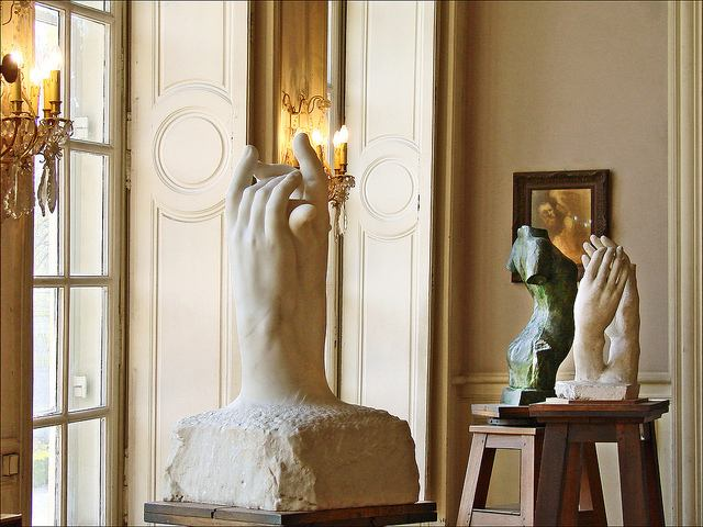 Hands were were often a subject in and of themselves in the works of Auguste Rodin