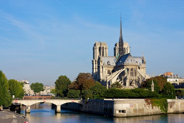 View of the Notre Dame from the River Seine