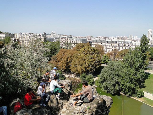 Enjoying the view from Parc des Buttes-Chaumont
