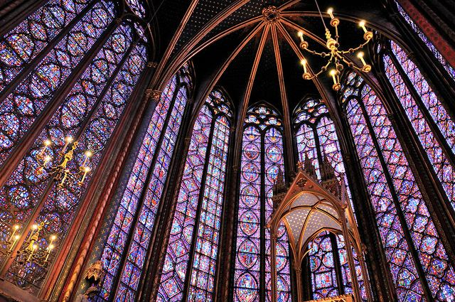Sainte Chapelle boasts some of the most beautiful stained glass in the world