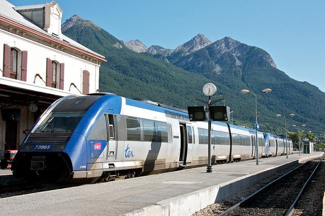 An SNCF TER Train in Southern France - One of many scenic exurcursions you can book with Rail Europe