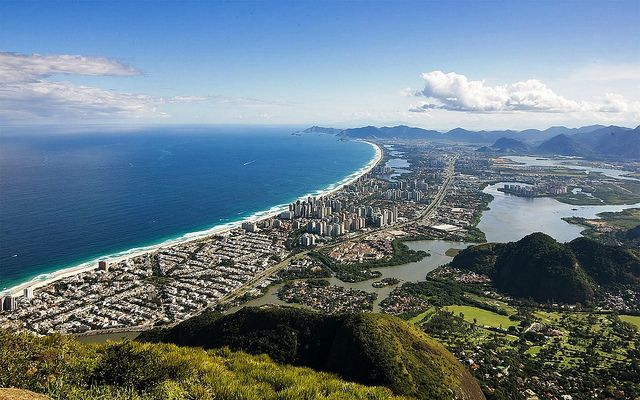 Expansive view of Barra da Tijuca from the mountains