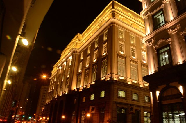 Bank of Brazil Cultural Centre RJ at night