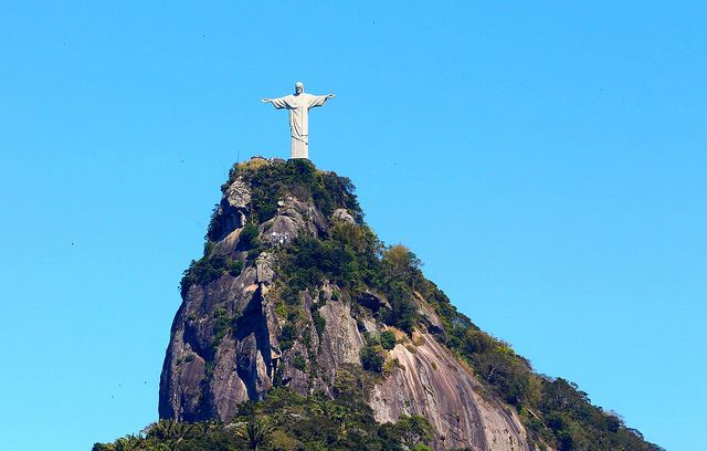 Christ the Redeemer Statue on top of Corcovado Peak