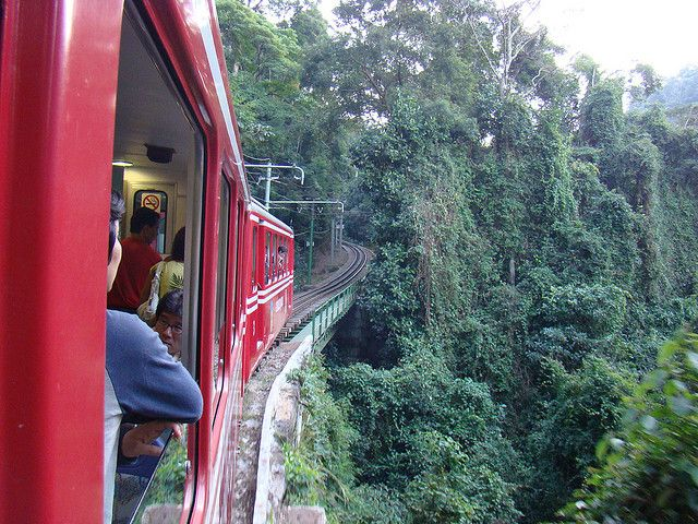 The train that takes you to the top of Corcovado
