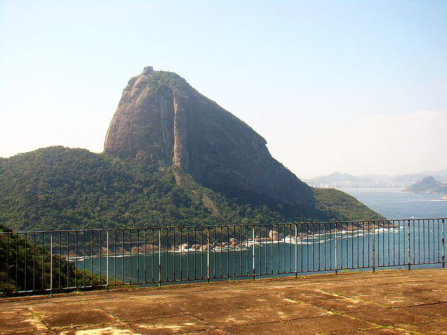 View of Sugar Loaf Mountain from Forte Duque de Caxias