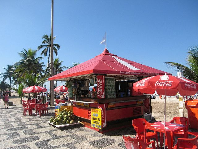 Seafood kiosk on Ipanema Beach