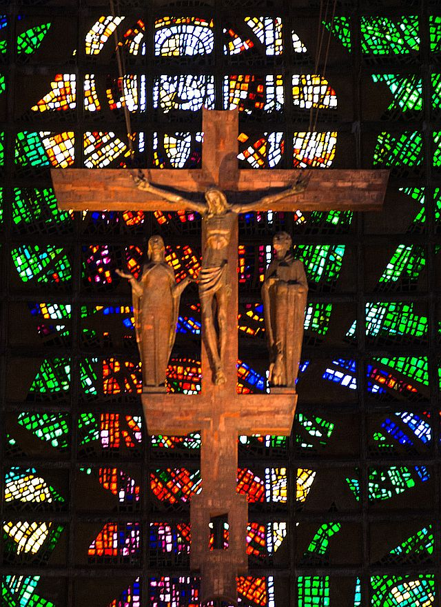 The Crucifix inside the Metropolitan Cathedral