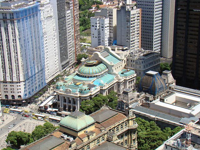 View of Teatro Municipal from above