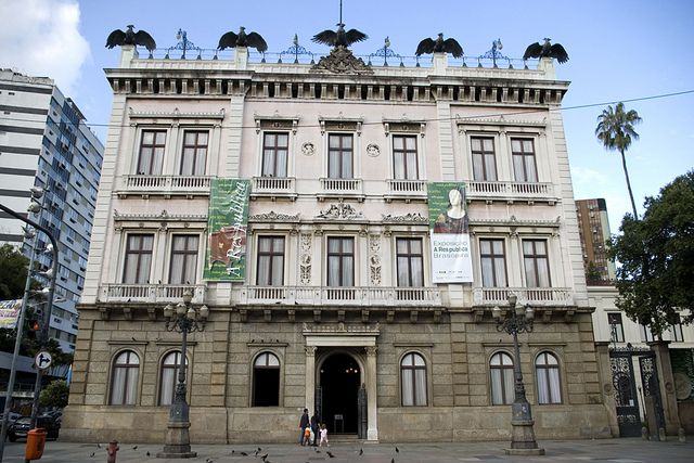 Facade of Catete Palace - home of the Museum of the Republic