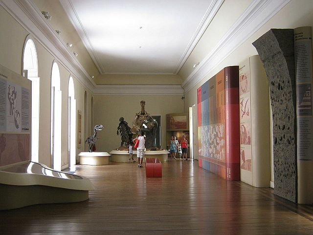 Exhibition room inside the National Museum of Brazil