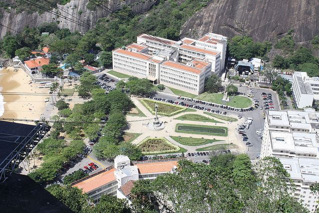 Looking down on Praca General Tiburcio from Morro Da Urca