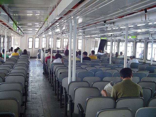 Seating inside the Rio - Niterio Ferry
