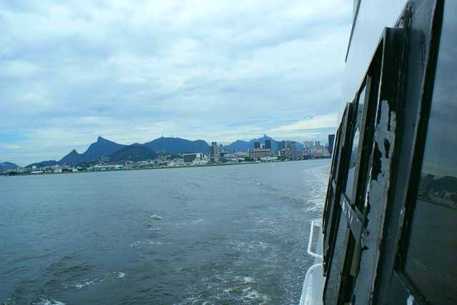 Looking back towards Rio from the Rio-Niteroi Ferry