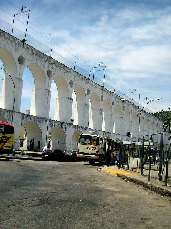Arcos da Lapa - the old aqueduct sits near the bottom of the Santa Teresa Hill