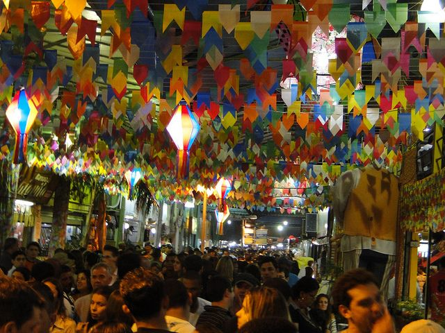 Inside the São Cristovão Market during the June Fair