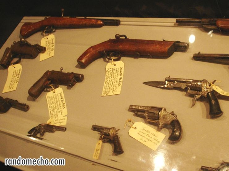 Old weapons on display at the Sydney Justice and Police Museum