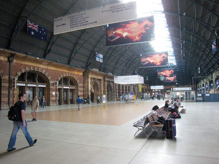 Grand concourse of Central Railway Station in Sydney