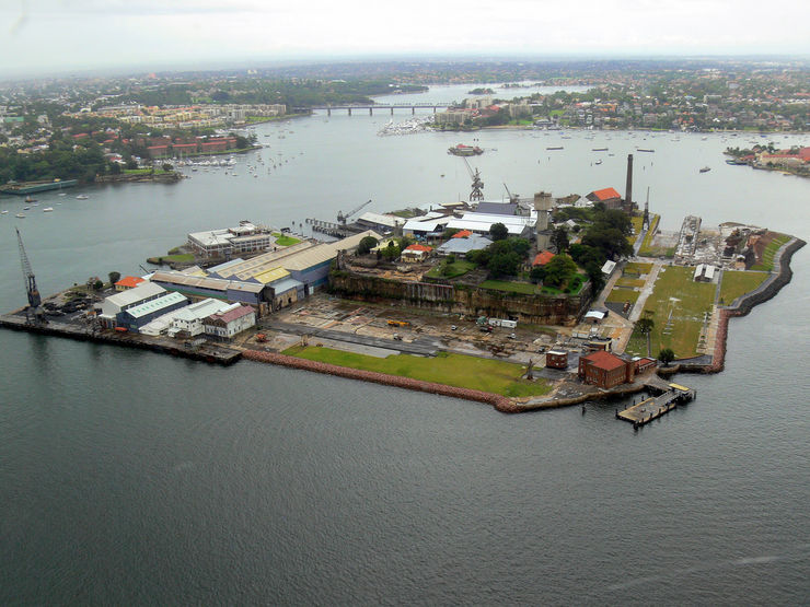 Ariel view of Cockatoo Island