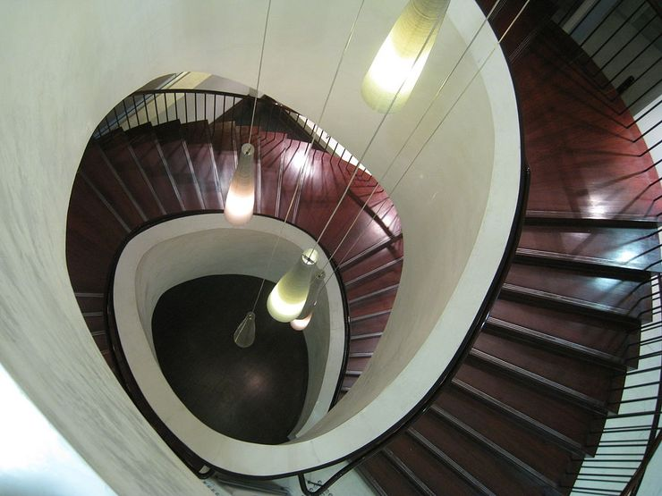 Spectacular spiral staircase inside Customs House