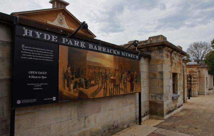 Entrance to the Hyde Park Barracks Museum
