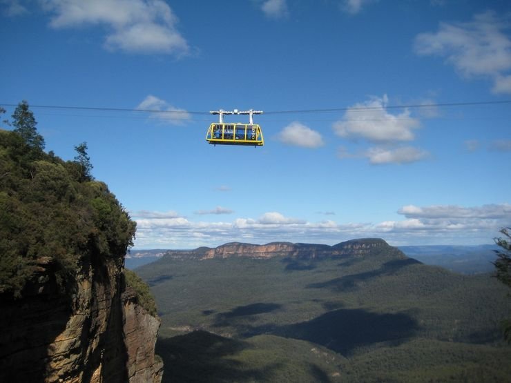 The exhilarating Scenic Skyway cable car attraction in Katoomba
