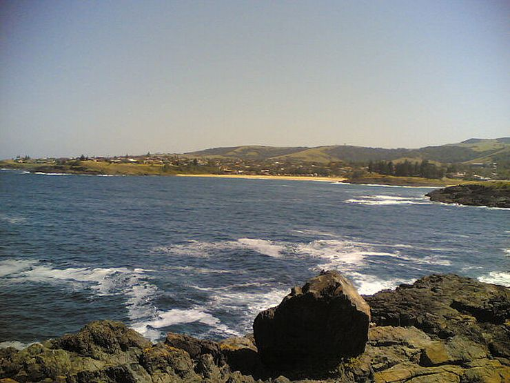 Looking south along Kiama's beautiful coastline