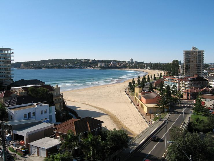 A view of beautiful Manly Beach