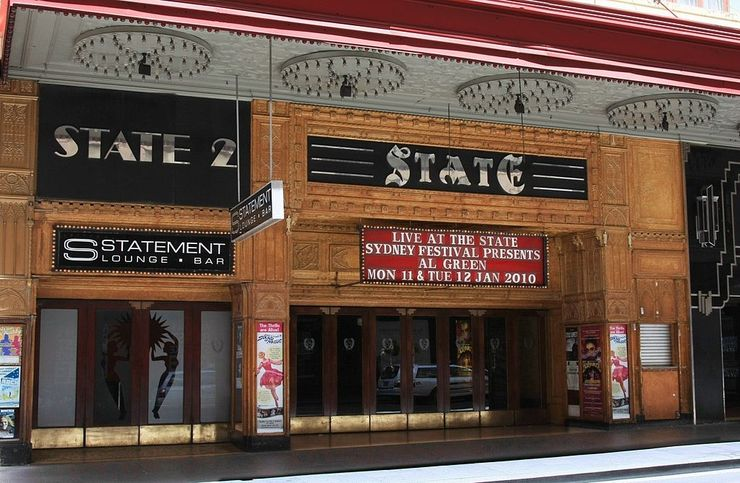 Entrance to the State Theatre