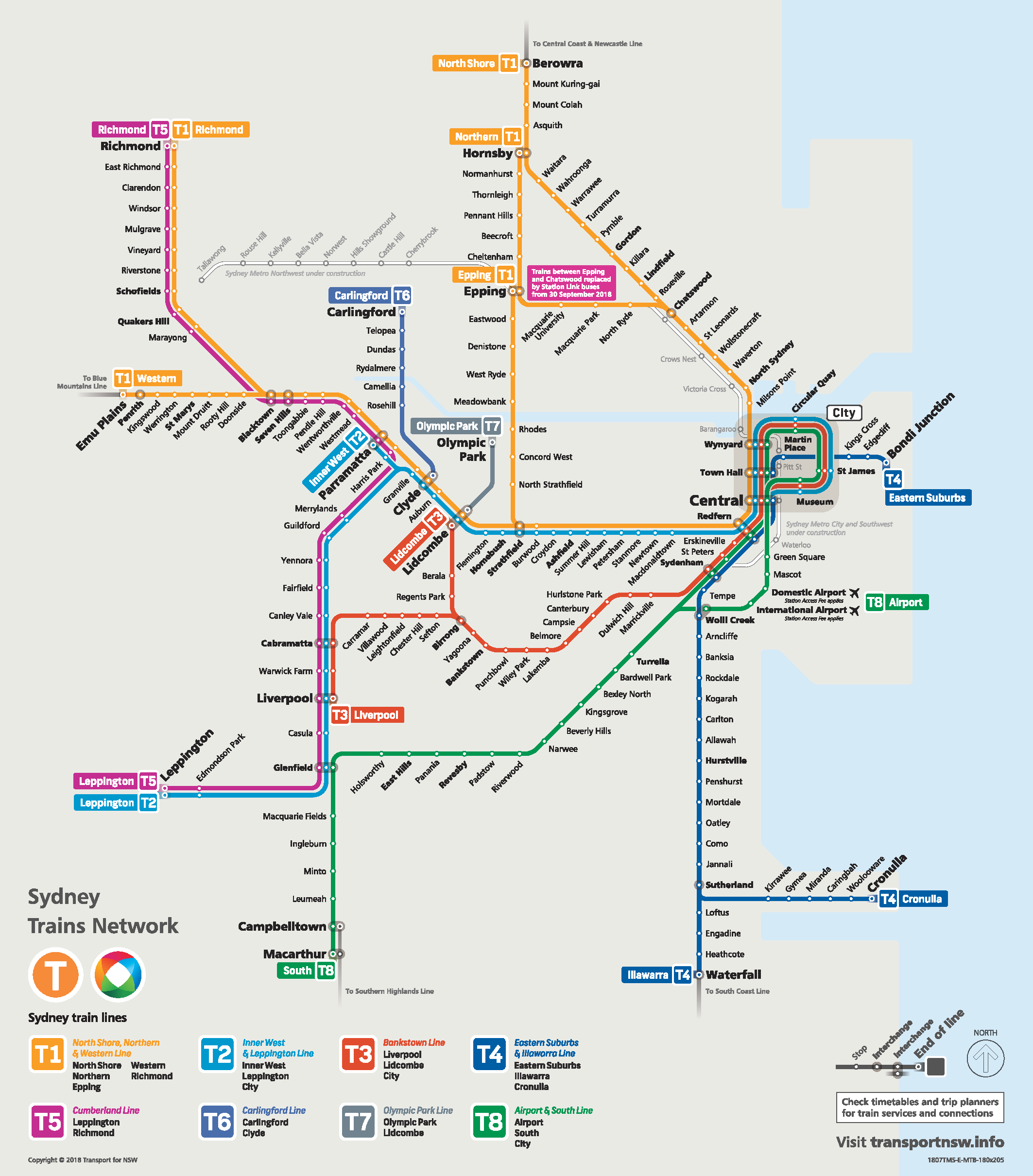 Sydney Trains Map