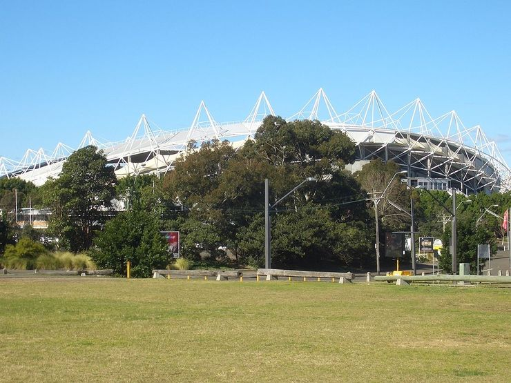 Exterior of Allianz Stadium in Moore Park