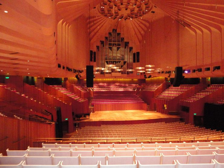 Inside the Sydney Opera House Concert Hall