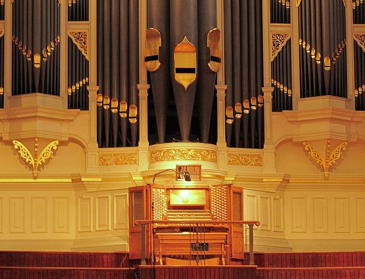 The renowned Grand Organ inside the Sydney Town Hall