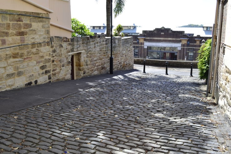 A 200 year old cobblestone road in The Rocks