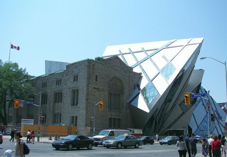 Old architecture meets new at the Royal Ontario Museum
