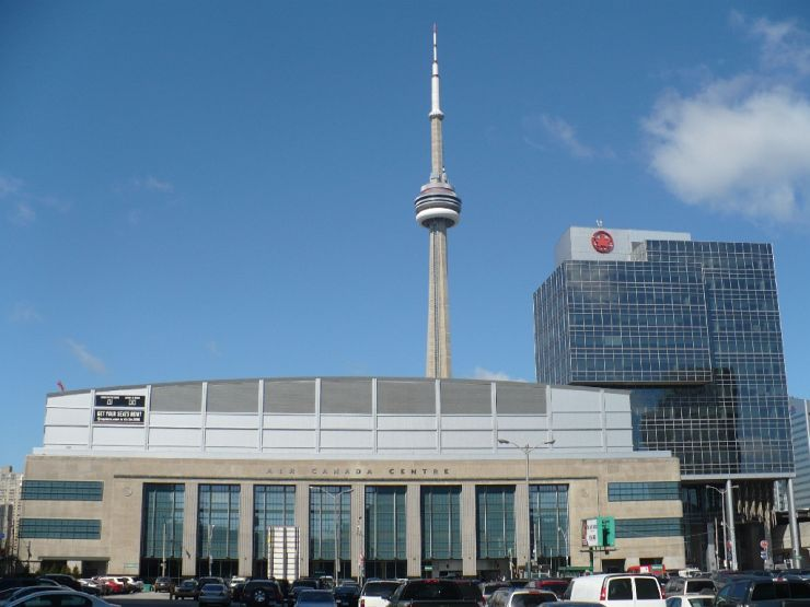 Exterior of the Scotia Bank Arena