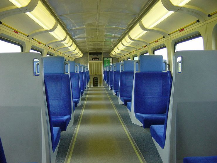 Upper Deck of Go Train Car