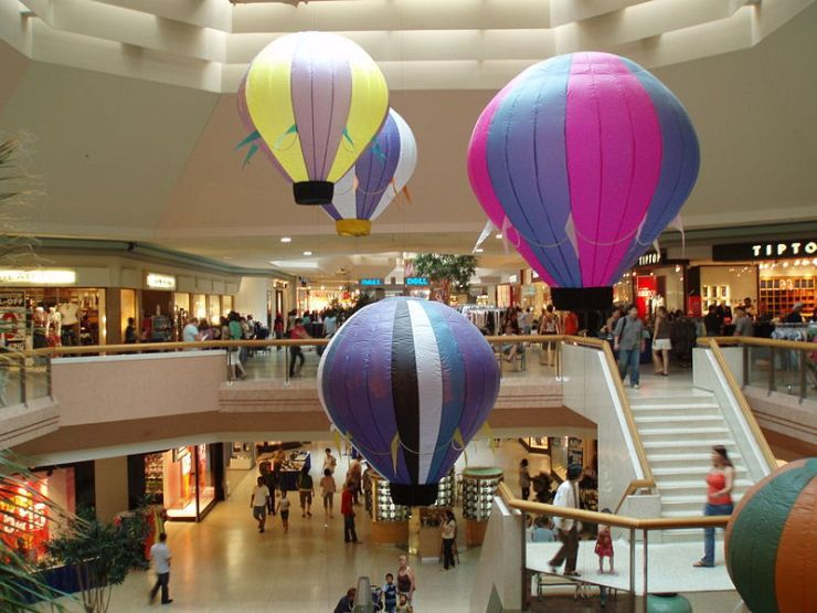 Inside Scarborough Town Centre Mall