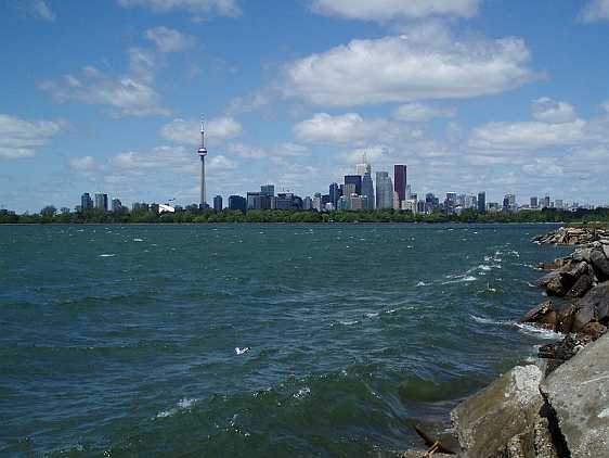 View from Leslie Street Spit (Tommy Thompson Park)